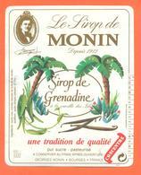 étiquette Sirop De Grenadine Le Sirop De Monin à Bourges - 100 Cl - Fruit En Groenten