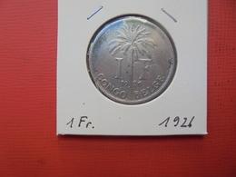 CONGO BELGE 1 FRANC 1926 FR TTB/TTB+ - Congo (Belgian) & Ruanda-Urundi
