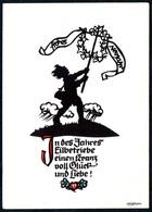 B6693 - Plischke Glückwunschkarte - Scherenschnitt - Zittau - Silhouette - Scissor-type