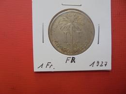 CONGO BELGE 1 FRANC 1927 FR TTB - Congo (Belgian) & Ruanda-Urundi