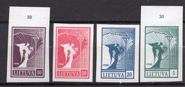 1990. LITUANIA - LITHUANIA - LITUANIE - LITAUEN -  Mi. Nr. 457/460 - MINT - (0120.6) - Lituania