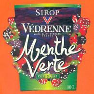 étiquette Sirop De Menthe Verte Vedrenne à Nuits Saint Georgese - 100 Cl - Fruits & Vegetables