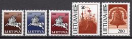 1991 - LITUANIA - LITHUANIA - LITUANIE - LITAUEN -  Mi. Nr. 465/469 - MINT - (0120.6) - Lituania