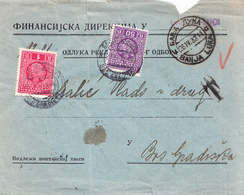 CVR WITHOUT FRANKING  T CANCEL AND TWO DIFFERENT PORTO - 1931-1941 Kingdom Of Yugoslavia
