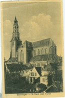 Groningen 1930: N. Kerk Met Toren - Gelopen. (C. Stellingwerf, Groningen) - Groningen