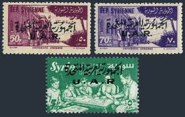 Syria UAR C26-C28,MNH.Michel 50-52. Overprint UAR Arabic And Latin.1959. - Syria