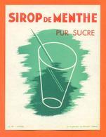 étiquette Ancienne De Menthe Pur Sucre Gensay Et Pichot à Paris - Fruits & Vegetables