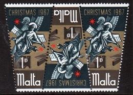 Malta Complete Set Of Stamps To Celebrate Christmas 1967. - Malta