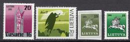 1991 - LITUANIA - LITHUANIA - LITUANIE - LITAUEN -  Mi. Nr. 470/473 - MINT - (0120.6) - Lituania