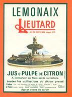 étiquette De Jus Et Pulpe De Citron Lemonaix Lieutard à Aix En Provence - 100 Cl - Fontaine De La Rotonde - Fruits & Vegetables