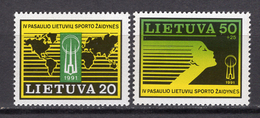 1991 - LITUANIA - LITHUANIA - LITUANIE - LITAUEN -  Mi. Nr. 482/483 - MINT - (0120.6) - Lituania