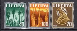 1991 - LITUANIA - LITHUANIA - LITUANIE - LITAUEN -  Mi. Nr. 474/476 - MINT - (0120.6) - Lituania