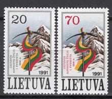 1991 - LITUANIA - LITHUANIA - LITUANIE - LITAUEN -  Mi. Nr. 484/485 - MINT - (0120.6) - Lituania