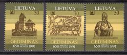 1991 - LITUANIA - LITHUANIA - LITUANIE - LITAUEN -  Mi. Nr. 486/488 - MINT - (0120.6) - Lituania