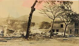 Océanie - Polynésie Française - Carte Photo - Bombardement De Papeete (Ile De Tahiti) - Très Rare - Polynésie Française