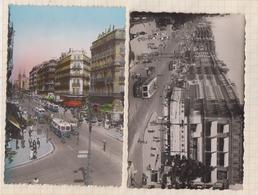 8AK2729 1951 MARSEILLE  LA CANEBIERE Lot 2 Cartes TRAMWAY VOITURES 2 SCAN - The Canebière, City Centre