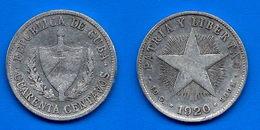 Cuba 40 Centavos 1920 Star Silver Argent Centavo Caraibe Que Prix + Port Pesos Skrill Paypal Bitcoin OK - Cuba