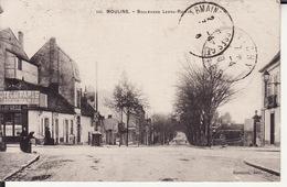 03 MOULINS -- Boulevard Ledru - Rollin + Cachet Militaire Au Dos - Moulins