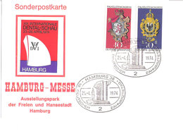 Germany Deutschland 25.4.1974  Hambrurg-Messe  Mi 1477  Special Post Card Hamburg.Messe Special Cancellation - Lettres & Documents