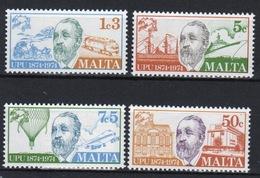 Malta Set Of Stamps To Celebrate Centenary Of U.P.U. 1974. - Malta