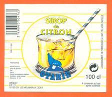 étiquette De Sirop De Citron Otarie Orgelec à Issy Les Moulineaux - 100 Cl - Fruits & Vegetables