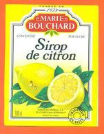 étiquette De Sirop De Citron Marie Bouchard Meneau à Saint Loubès - 100 Cl - Fruits & Vegetables