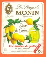 étiquette De Sirop De Citron Monin à Bourges - 100 Cl - Fruits & Vegetables