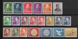 NORVEGE - ANNEES COMPLETES 1958/59 **/MNH - COTE YVERT = 143 EUR. - Ganze Jahrgänge