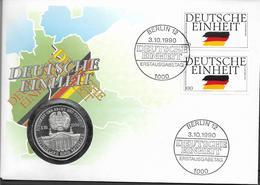 1990 Deutschland  Numisbrief / Münzbrief / Medaillenbrief Deutsche Einheit 1990 - [ 7] 1949-…: BRD