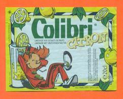 étiquette De Sirop De Citron Colibri Limonade - 20 Cl Spirou - Fruits & Vegetables