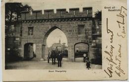 1361  - Pays Bas : Groet Ult MAASTRICHT :  POORT WAARACHTIG  - ATTELAGE   Circulée En 1903 - Maastricht