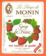 étiquette De Sirop De Fraise Monin à Bourges - 100 Cl - Fruits & Vegetables