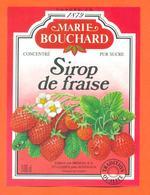 étiquette De Sirop De Fraise Marie Bouchard Meneau à Saint Loubes - 100 Cl - Fruits & Vegetables