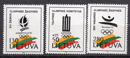 1992 - LITUANIA - LITHUANIA - LITUANIE - LITAUEN -  Mi. Nr. 496/498 - MINT - (0120.6) - Lituania