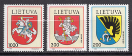 1992 - LITUANIA - LITHUANIA - LITUANIE - LITAUEN -  Mi. Nr. 505/507 - MINT - (0120.7) - Lituania
