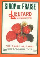 étiquette De Sirop De Fraise Pur Sucre De Canne Lieutard à Aix En Provence - 100 Cl - Fruits & Vegetables