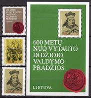 1993 - LITUANIA - LITHUANIA - LITUANIE - LITAUEN -  Mi. Nr. 518/521 - MINT - (0120.7) - Lituania