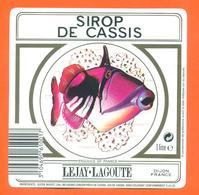 étiquette De Sirop De Cassis Lejay Lagoute à Dijon - 100 Cl - Poisson Exotique - Fruits & Vegetables
