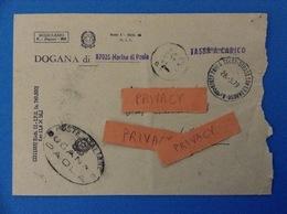 1979 BUSTA DOGANA DI MARINA DI PAOLA COSENZA TASSA A CARICO - 6. 1946-.. Republic