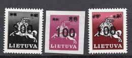 1993 - LITUANIA - LITHUANIA - LITUANIE - LITAUEN -  Mi. Nr. 514/515+522 - MINT - (0120.7) - Lituania