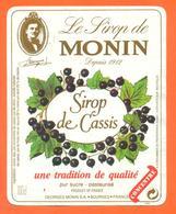 étiquette De Sirop De Cassis Monin à Bourges - 100 Cl - Fruits & Vegetables