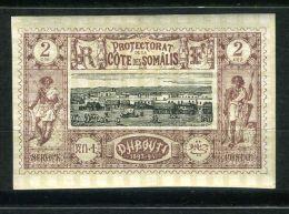 COTE DES SOMALIS ( POSTE ) : Y&T N° 7  TIMBRE  NEUF AVEC  TRACE  DE  CHARNIERE . - Französich-Somaliküste (1894-1967)