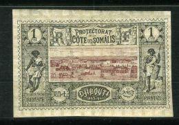 COTE DES SOMALIS ( POSTE ) : Y&T N° 6  TIMBRE  NEUF AVEC  TRACE  DE  CHARNIERE . - Französich-Somaliküste (1894-1967)