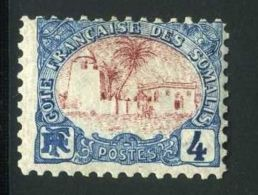 COTE DES SOMALIS ( POSTE ) : Y&T N°  39  TIMBRE  NEUF  AVEC  TRACE  DE  CHARNIERE . - Côte Française Des Somalis (1894-1967)