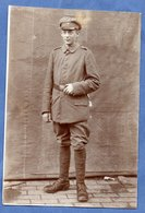 Carte Photo  --  Soldat Allemand - War 1914-18