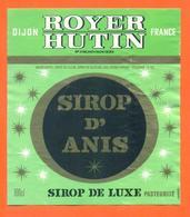 étiquette De Sirop D'anis Royer Hutin à Dijon - 100 Cl - Fruits & Vegetables