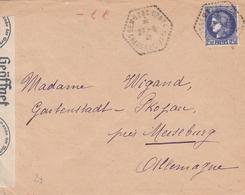 France Lettre Censurée Gemozac Pour L'Allemagne 1941 - 1921-1960: Periodo Moderno