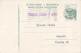 Yugoslavia - Stationery , Postage Paid In Cash , Zagreb 1970 - Postal Stationery