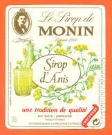 étiquette De Sirop D'anis Monin à Bourges - 100 Cl - Fruits & Vegetables