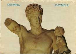 Greece - Olympia - The Museum.Hermes Of Praxiteles.detail.sculpture - Greece